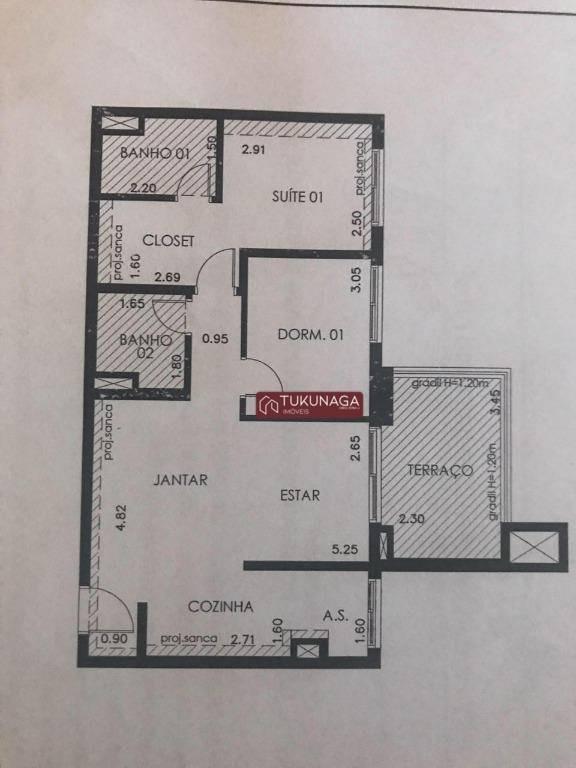 apartamento com 2 dormitórios à venda, 68 m² por r$ 530.000 - jardim flor da montanha - guarulhos/sp - ap3551