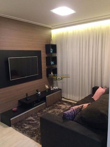 apartamento com 2 dormitórios à venda, 69 m² por r$ 615.000,00 - vila carrão - são paulo/sp - ap1608