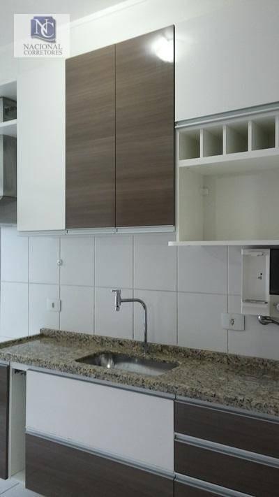 apartamento com 2 dormitórios à venda, 70 m² por r$ 370.000 - parque das nações - santo andré/sp - ap0456