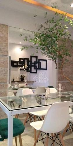 apartamento com 2 dormitórios à venda, 70 m² por r$ 530.000 - itaipu - niterói/rj - ap2626