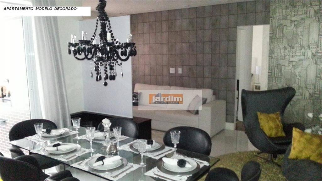 apartamento com 2 dormitórios à venda, 70 m² por r$ 574.100 - bairro jardim - santo andré/sp - ap6056