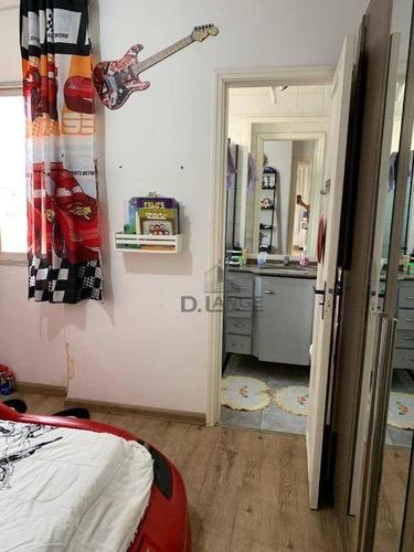 apartamento com 2 dormitórios à venda, 73 m² por r$ 340.000 - centro - campinas/sp - ap17695