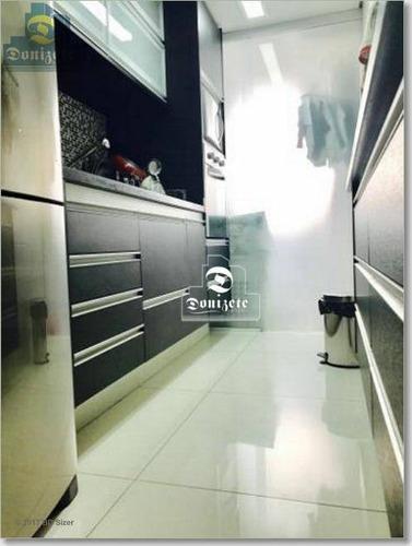apartamento com 2 dormitórios à venda, 73 m² por r$ 444.000,10 - jardim - santo andré/sp - ap3983