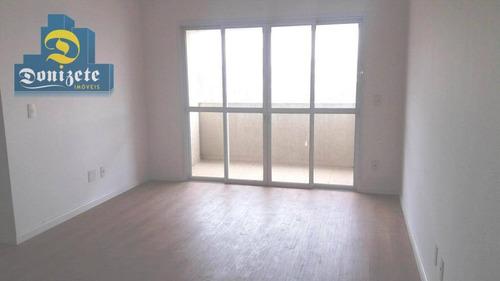 apartamento com 2 dormitórios à venda, 75 m² por r$ 350.000 - jardim santo antônio - santo andré/sp - ap9408