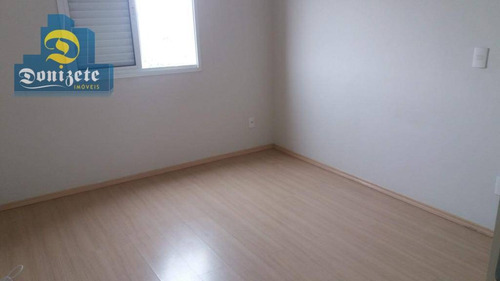 apartamento com 2 dormitórios à venda, 75 m² por r$ 360.000 - jardim santo antônio - santo andré/sp - ap9409