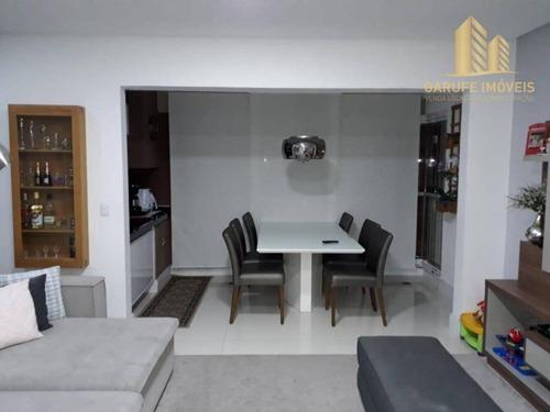 apartamento com 2 dormitórios à venda, 75 m² por r$ 425.000,00 - jardim das indústrias - são josé dos campos/sp - ap1269