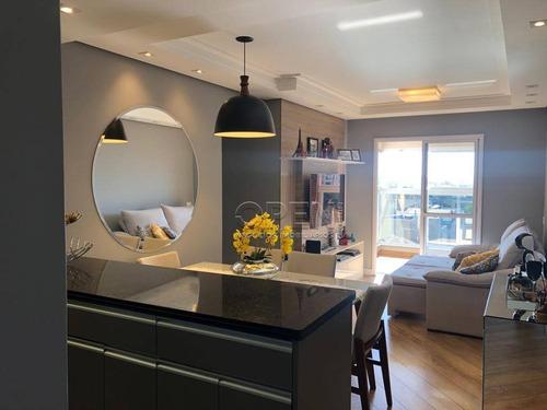 apartamento com 2 dormitórios à venda, 75 m² por r$ 525.000,00 - campestre - santo andré/sp - ap9549