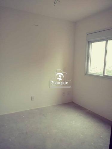 apartamento com 2 dormitórios à venda, 78 m² por r$ 520.000 - campestre - santo andré/sp - ap0098