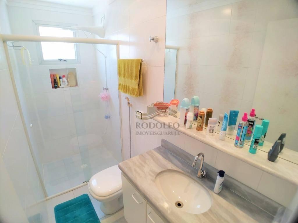 apartamento com 2 dormitórios à venda, 89 m² por r$ 400.000 - praia do tombo - guarujá/sp - ap0955