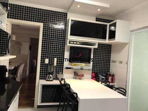 apartamento com 2 dormitórios à venda, 89 m² por r$ 550.000 - santa maria - são caetano do sul/sp - ap2112