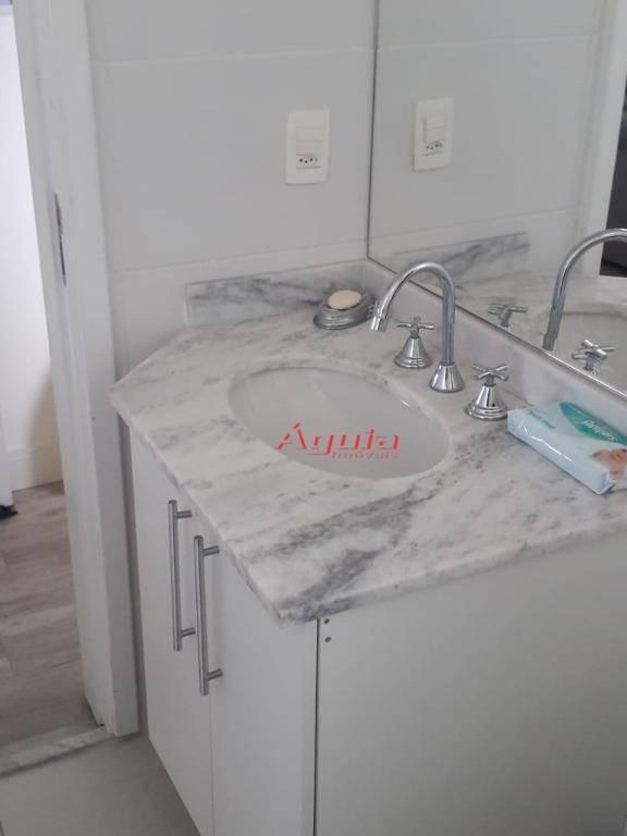 apartamento com 2 dormitórios à venda, 91 m² por r$ 770.000 - bairro jardim - santo andré/sp - ap1604