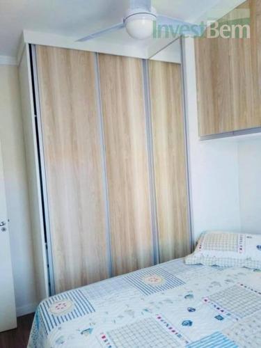apartamento com 2 dormitórios à venda, - condomínio brisa club house - valinhos/sp - ap0289