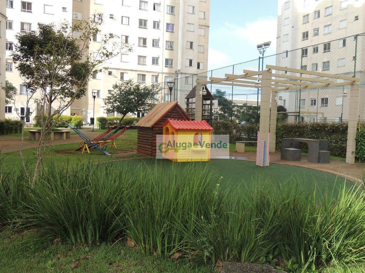 apartamento com 2 dormitórios à venda no condomínio único, 46 m² por r$ 185.000 - ponte grande - guarulhos/sp - ap0176
