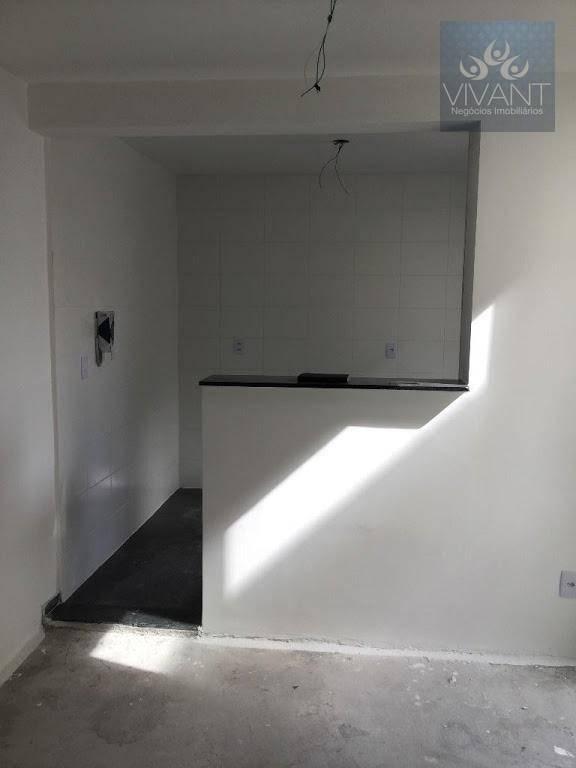 apartamento com 2 dormitórios à venda por r$ 185.000 - parque santa rosa - suzano/sp - ap0275