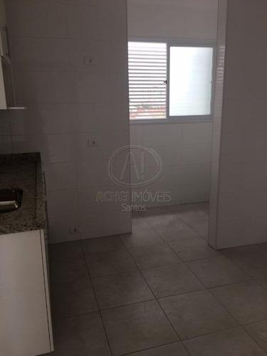 apartamento com 2 dormitórios,2 vagas demarcadas  2 suites  para alugar, 70 m² por r$ 2.550/mês - gonzaga - santos/sp - ap7526