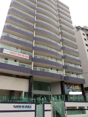 apartamento com 2 dorms, caiçara, praia grande - r$ 378.000,00, 73,12m² - codigo: 412534 - v412534