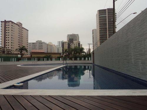 apartamento com 2 dorms, caiçara, praia grande - r$ 400.000,00, 84,79m² - codigo: 412465 - v412465