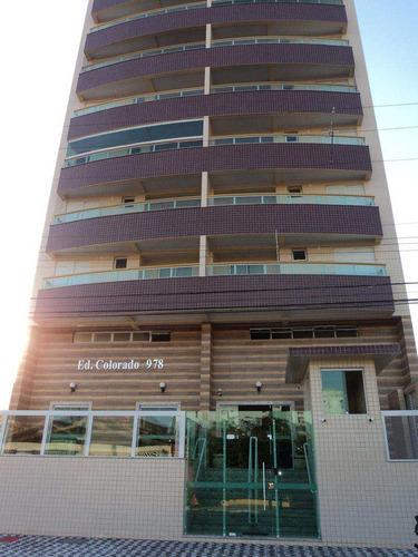 apartamento com 2 dorms, caiçara, praia grande - r$ 420.000,00, 72m² - codigo: 412416 - v412416