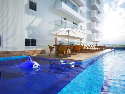 apartamento com 2 dorms, canto do forte, praia grande - r$ 447.000,00, 98,44m² - codigo: 412796 - v412796