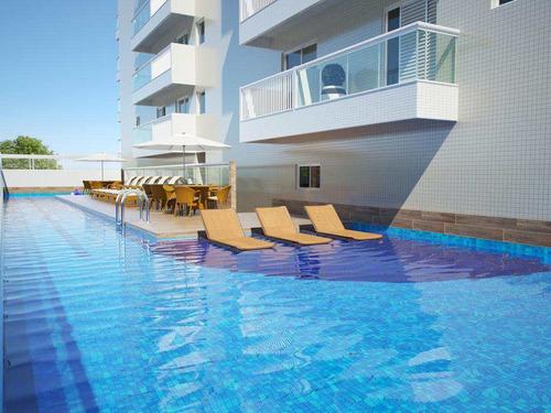 apartamento com 2 dorms, canto do forte, praia grande - r$ 487.000,00, 102,71m² - codigo: 412753 - v412753