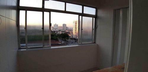 apartamento com 2 dorms, estuário, santos - r$ 370 mil, cod: 4107 - v4107