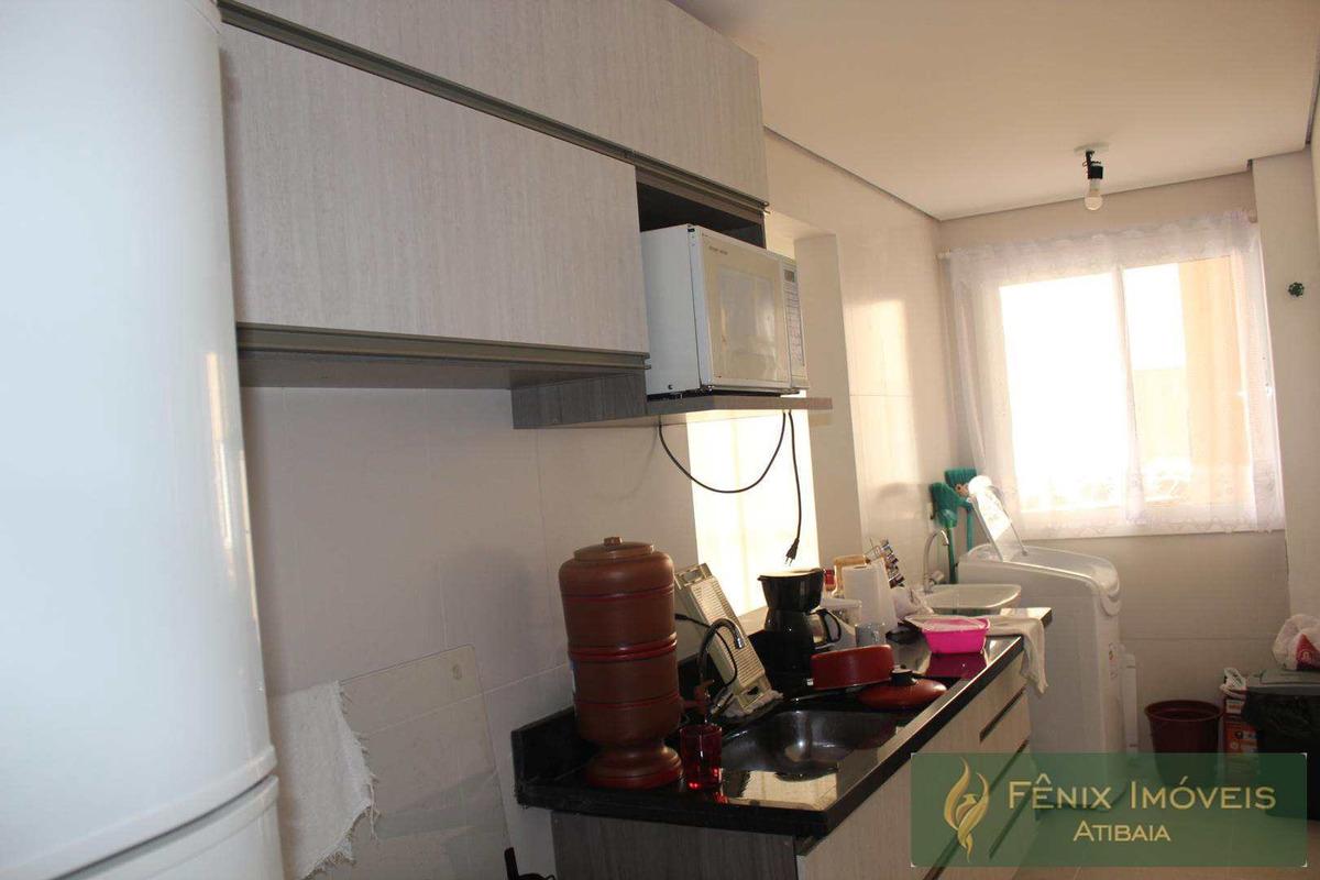 apartamento com 2 dorms, itapetinga, atibaia - r$ 350.000,00 - v399