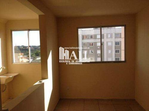 apartamento com 2 dorms, jardim santa lúcia, são josé do rio preto - r$ 133.000,00, 50m² - codigo: 4414 - v4414