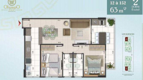 apartamento com 2 dorms, ocian, praia grande - r$ 290.000,00, 63m² - codigo: 413139 - v413139