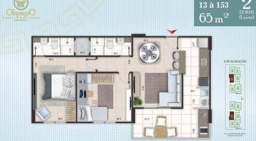 apartamento com 2 dorms, ocian, praia grande - r$ 300.000,00, 65m² - codigo: 413124 - v413124