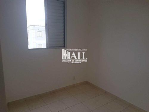 apartamento com 2 dorms, residencial ana célia, são josé do rio preto - r$ 135.000,00, 55m² - codigo: 3968 - v3968