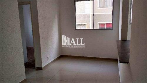 apartamento com 2 dorms, residencial macedo teles i, são josé do rio preto - r$ 136.000,00, 58m² - codigo: 1692 - v1692