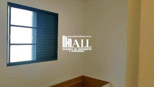 apartamento com 2 dorms, residencial macedo teles i, são josé do rio preto - r$ 148.000,00, 60m² - codigo: 3340 - v3340
