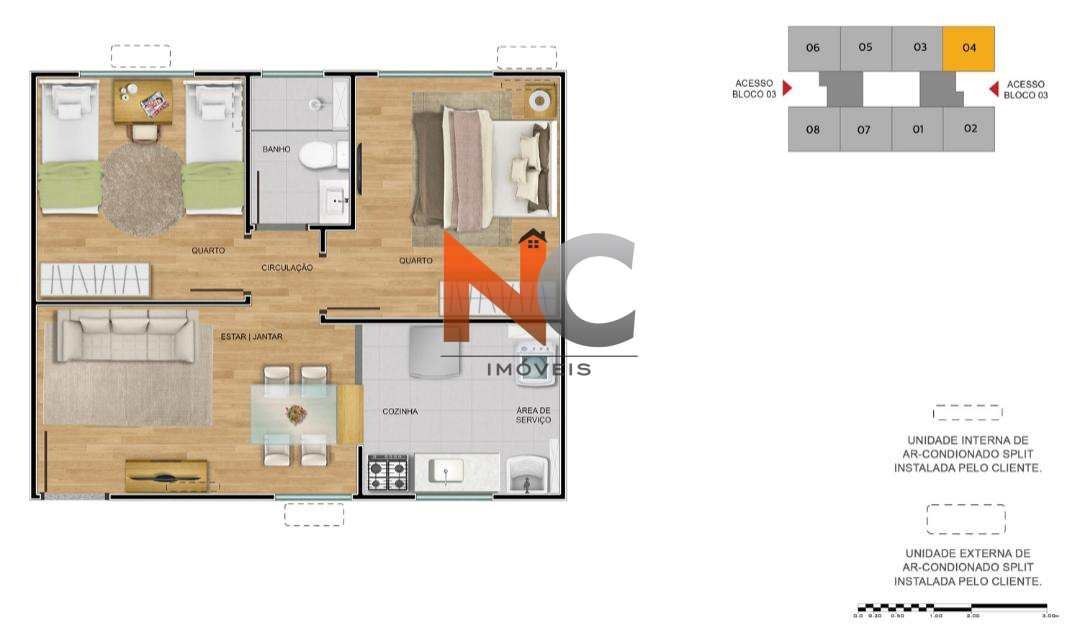 apartamento com 2 dorms, vila lage, são gonçalo - r$ 133 mil, cod: 628 - v628