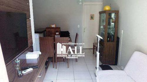 apartamento com 2 dorms, vila são judas tadeu, são josé do rio preto - r$ 248.000,00, 60m² - codigo: 3562 - v3562