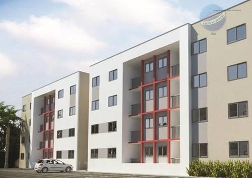 apartamento com 2 quartos em natal - residencial san francisco - ap0009