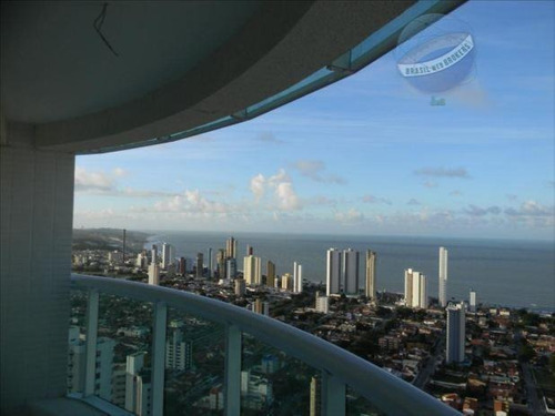 apartamento com 2 quartos em ponta negra, com vista para o mar - residencial estrela do atlântico - ap0051