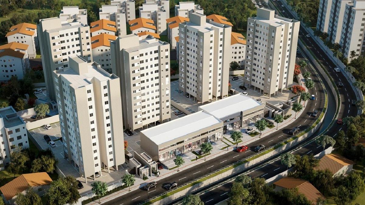 apartamento com 2 quartos para comprar no parque maracanã em contagem/mg - 1059