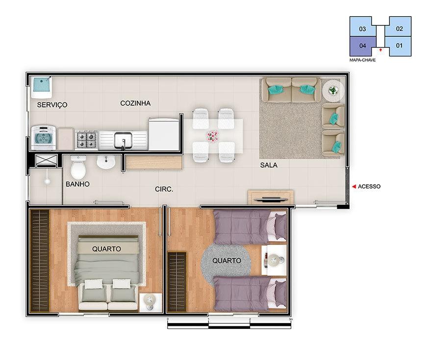 apartamento com 2 quartos para comprar no sítio são joão em betim/mg - 5197