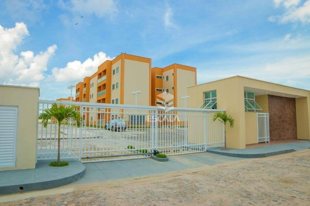 apartamento com 2 quartos à venda, 51 m², área de lazer, 1 vaga - curicaca - caucaia/ce - ap0924