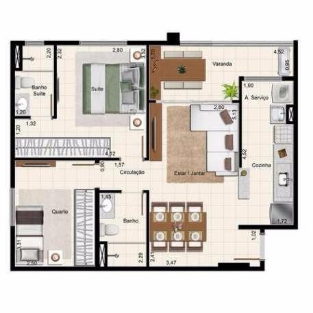 apartamento com 2 quartos à venda, setor leste universitário