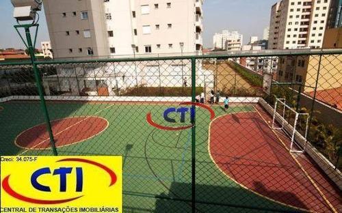 apartamento com 2 suítes  à venda, 104 m² por r$ 530.000 - centro - são bernardo do campo/sp - ap3053