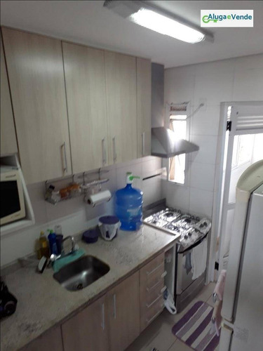 apartamento com 3 dormitórios, 1 suíte e 2 vagas de garagem à venda no condomínio parque clube, 91 m² por r$ 570.000 - vila augusta - guarulhos/sp - ap0099