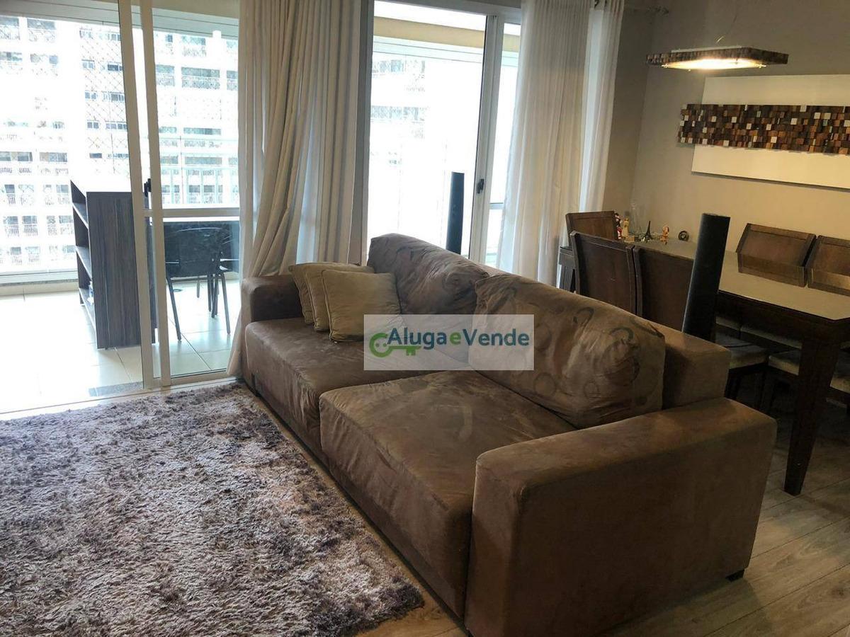 apartamento com 3 dormitórios, 1 suíte e 2 vagas de garagem à venda no condomínio parque clube, 91 m² por r$ 630.000 - vila augusta - guarulhos/sp - ap0202