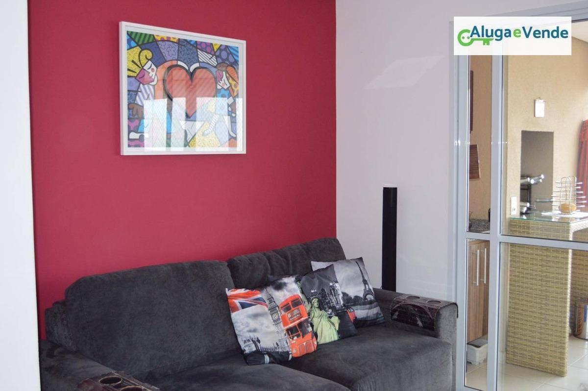 apartamento com 3 dormitórios, 1 suíte  à venda no condomínio parque clube guarulhos , 91 m² por r$ 620.000 - vila augusta - guarulhos/sp - ap0020