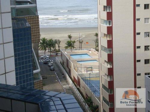 apartamento com 3 dormitórios na vila guilhermina em praia grande a meia quadra da praia - ap0156