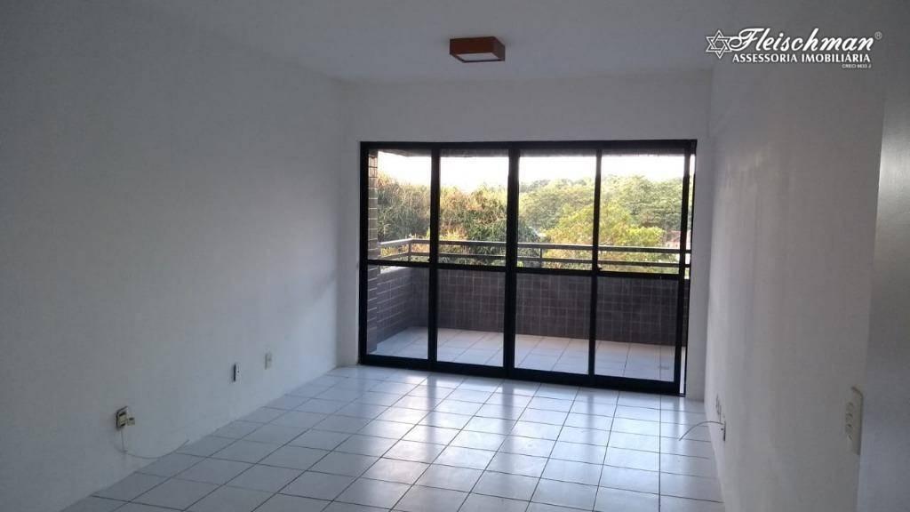 apartamento com 3 dormitórios para alugar, 100 m² por r$ 1.900,00/mês - casa forte - recife/pe - ap1619