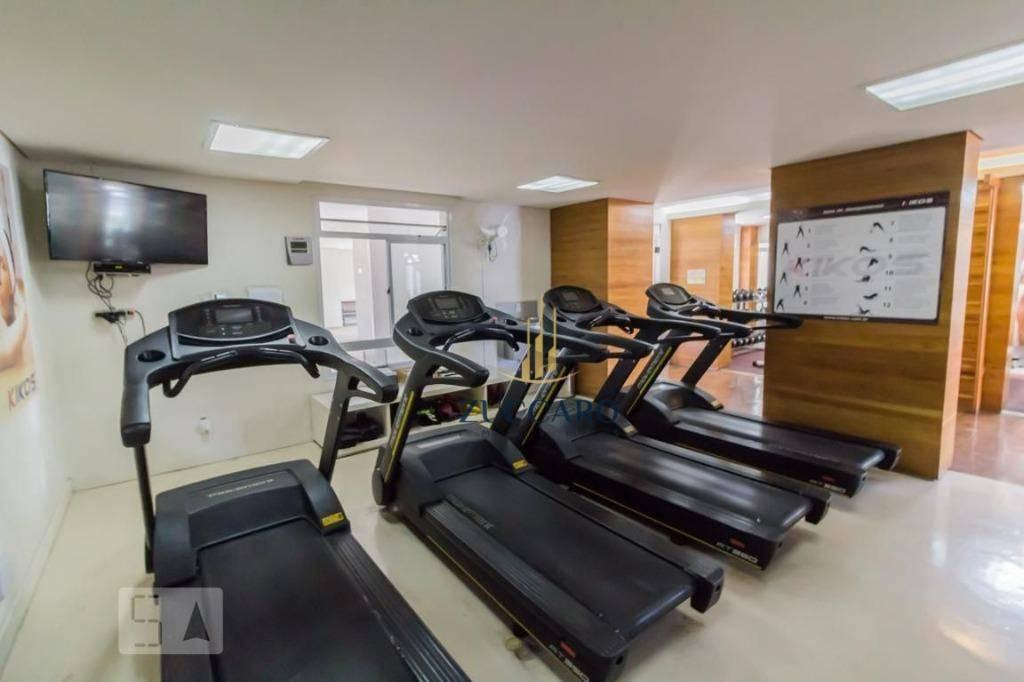 apartamento com 3 dormitórios para alugar, 103 m² por r$ 2.900/mês - mobliado - centro - guarulhos/sp - ap15197