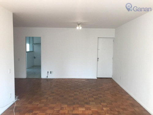 apartamento com 3 dormitórios para alugar, 120 m² por r$ 3.000/mês - campo belo - são paulo/sp - ap5572