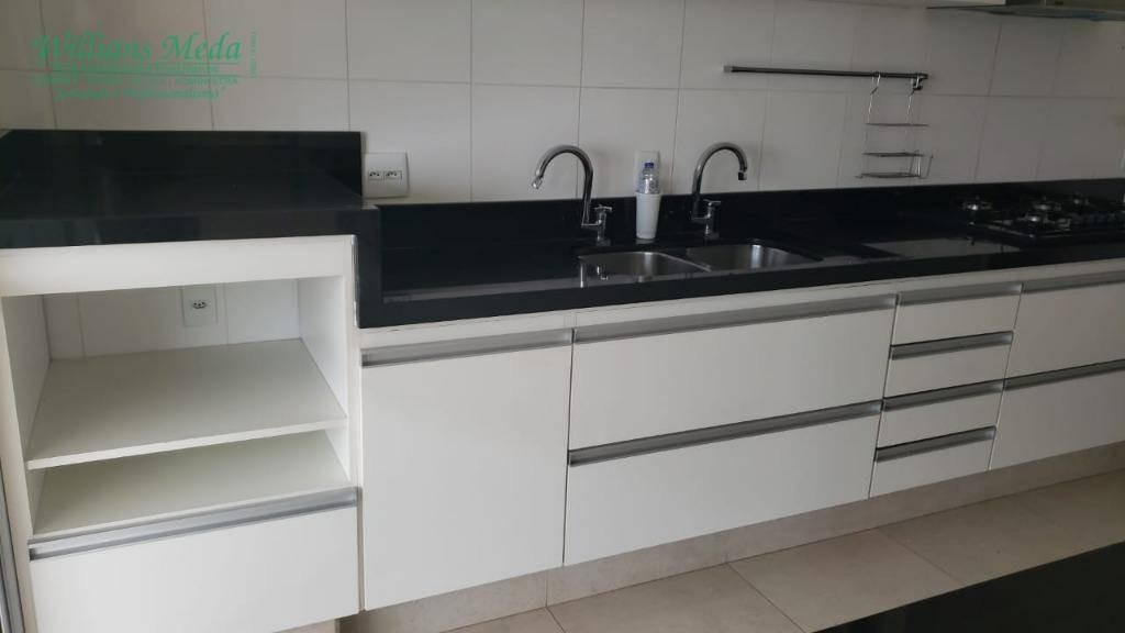 apartamento com 3 dormitórios para alugar, 126 m² por r$ 3.000/mês - vila progresso - guarulhos/sp - ap2676