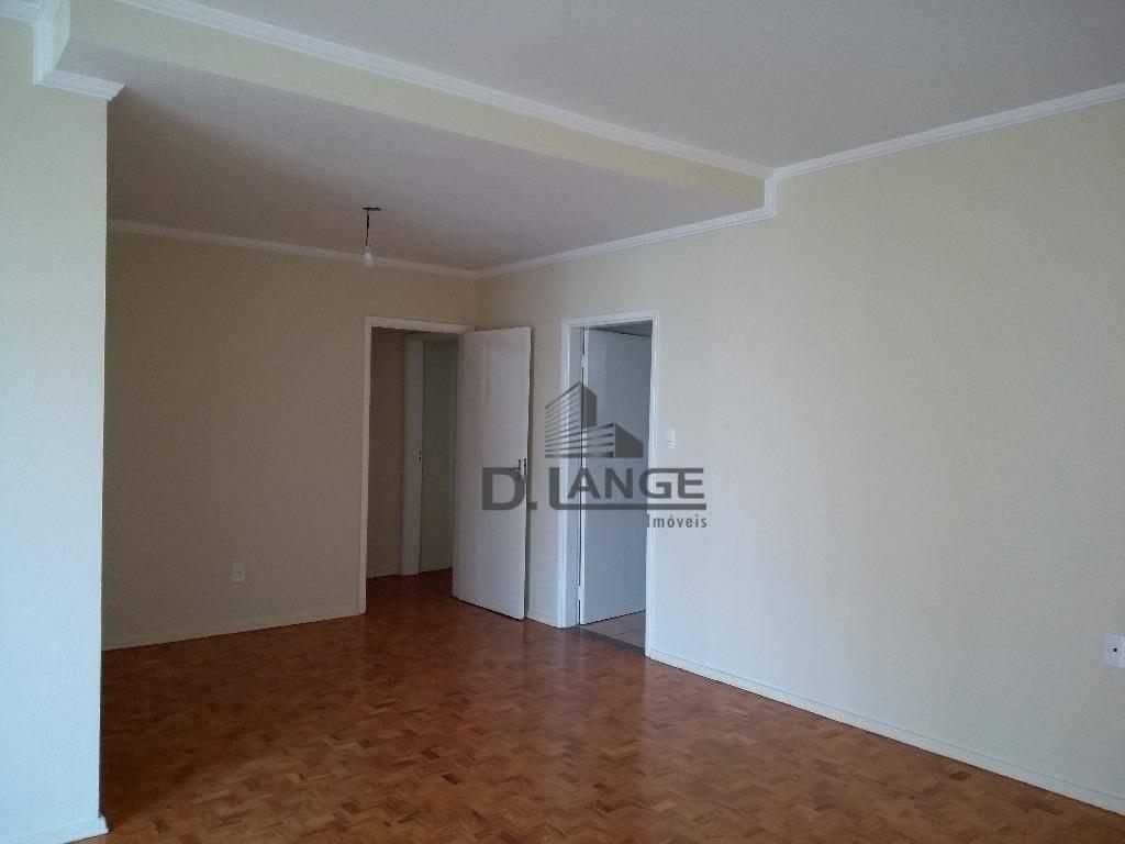 apartamento com 3 dormitórios para alugar, 156 m² por r$ 1.500/mês - vila itapura - campinas/sp - ap16603